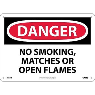 Danger, No Smoking Matches Or Open Flames, 10X14, .040 Aluminum