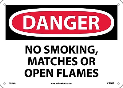 Danger, No Smoking Matches Or Open Flames, 10X14, .040 Aluminum