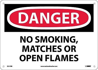 Danger, No Smoking Matches Or Open Flames, 10X14, Rigid Plastic