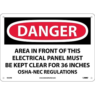 Danger, Area In Front Of This Electrical Panel, 10