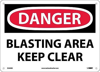 Danger, Blasting Area Keep Clear, 10X14, .040 Aluminum