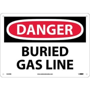 Danger, Buried Gas Line, 10X14, Rigid Plastic