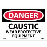 Danger, Caustic Wear Protective Equipment, 10X14, Adhesive Vinyl