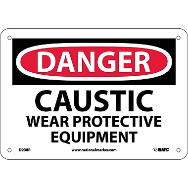 Danger, Caustic Wear Protective Equipment, 7