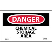 Labels - Danger, Chemical Storage Area, 3X5, Adhesive Vinyl, 5Pk