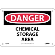 Danger, Chemical Storage Area, 7X10, Rigid Plastic