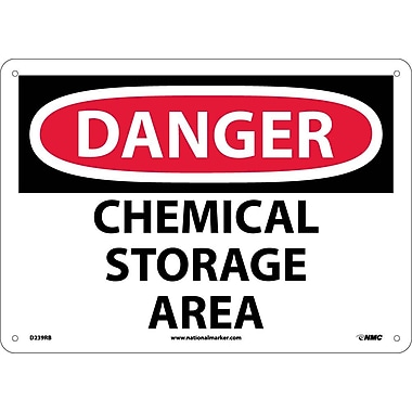 Danger, Chemical Storage Area, 10X14, Rigid Plastic