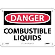 Danger, Combustible Liquids, 7X10, .040 Aluminum