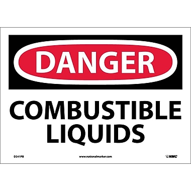 Danger, Combustible Liquids, 10