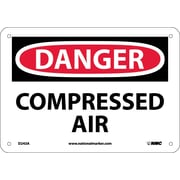 Danger, Compressed Air, 7X10, .040 Aluminum