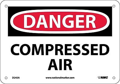 Danger, Compressed Air, 7X10, .040 Aluminum