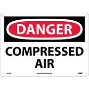 Danger, Compressed Air, 10X14, Rigid Plastic