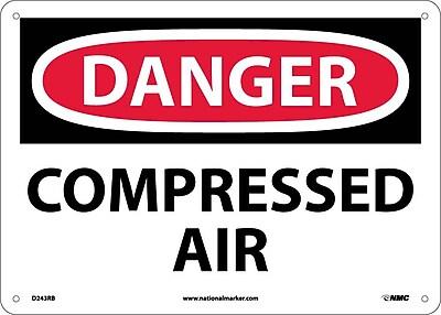 Danger, Compressed Air, 10X14, Rigid Plastic