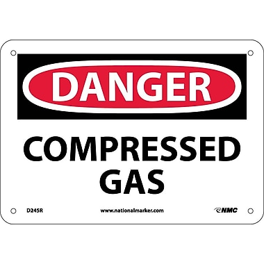 Danger, Compressed Gas, 7X10, Rigid Plastic