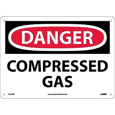 Danger, Compressed Gas, 10X14, Rigid Plastic