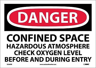 Danger, Confined Space Hazardous Atmosphere. . ., 10X14, Adhesive Vinyl