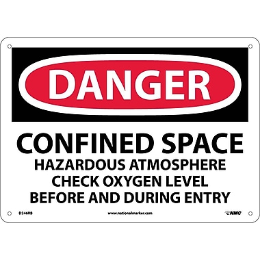 Danger, Confined Space Hazardous Atmosphere. . ., 10X14, Rigid Plastic