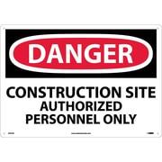 Danger, Construction Site Authorized Personnel Only, 14X20, .040 Aluminum