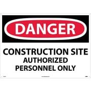 Danger, Construction Site Authorized Personnel Only, 20X28, .040 Aluminum