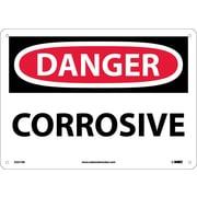 Danger, Corrosive, 10X14, .040 Aluminum