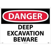 Danger, Deep Excavation Beware, 20X28, .040 Aluminum