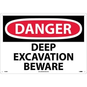 Danger Deep Excavation Beware, 14X20, Rigid Plastic