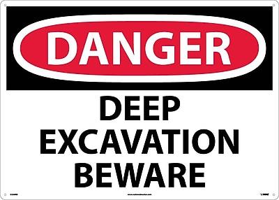 Danger, Deep Excavation Beware, 20X28, Rigid Plastic