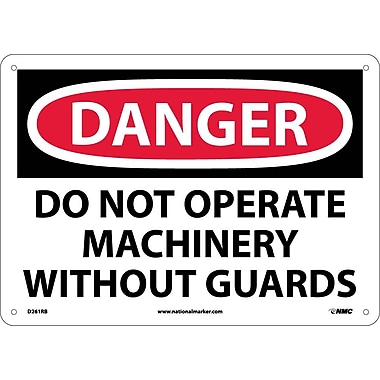 Danger, Do Not Operate Machinery Without Guard, 10