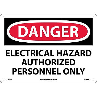 Danger, Electrical Hazard Authorized Personnel Only, 10