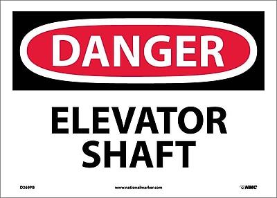 Danger, Elevator Shaft, 10X14, Adhesive Vinyl
