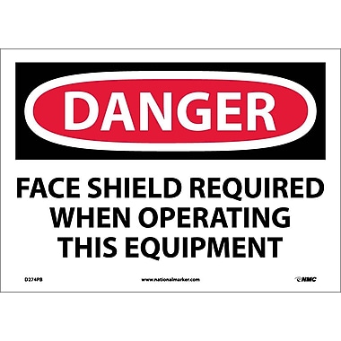 Danger, Face Shield Required When Operating This..., 10
