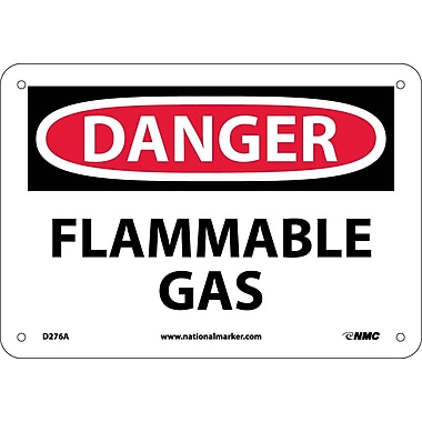 Danger, Flammable Gas, 7X10, .040 Aluminum