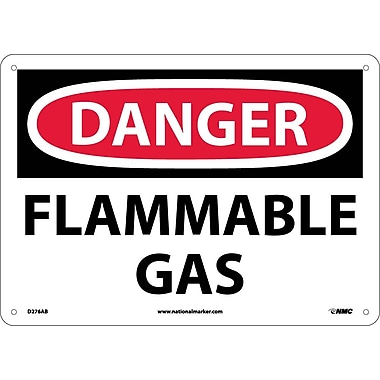Danger, Flammable Gas, 10X14, .040 Aluminum