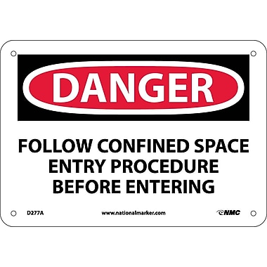 Danger, Follow Confined Space Entry Procedures Before Entering, 7