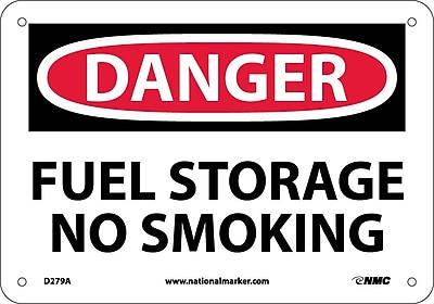 Danger, Fuel Storage No Smoking, 7X10, .040 Aluminum