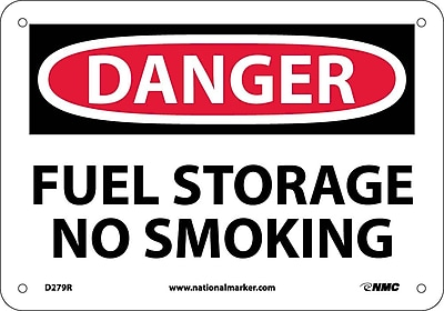 Danger, Fuel Storage No Smoking, 7X10, Rigid Plastic
