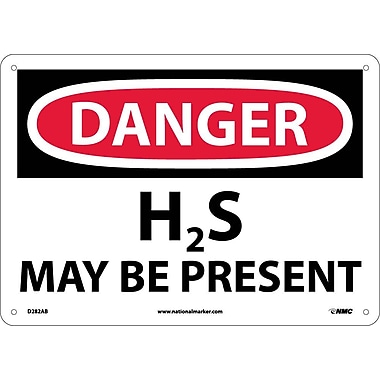 Danger, H2S May Be Present, 10x14 .040 Aluminum