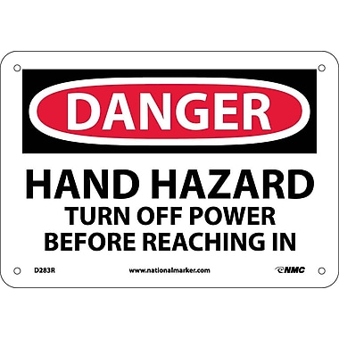 Danger, Hand Hazard Turn Off Power Before..., 7