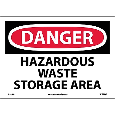 Danger, Hazardous Waste Storage Area, 10X14, Adhesive Vinyl