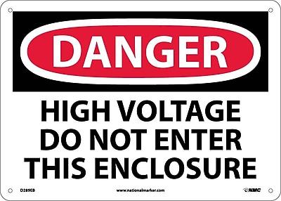 Danger, High Voltage Do Not Enter This Enclosure, 10X14, Fiberglass