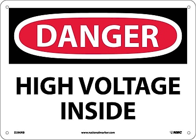 Danger, High Voltage Inside, 10X14, Rigid Plastic