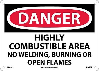 Danger, Highly Combustible Area No Welding. . ., 10X14, Fiberglass