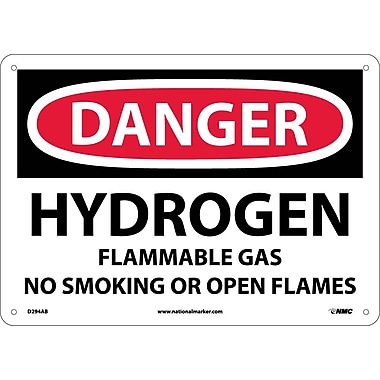 Danger, Hydrogen Flammable Gas No Smoking Or Open..., 10
