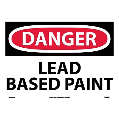 Danger, Lead Based Paint, 10X14, Adhesive Vinyl