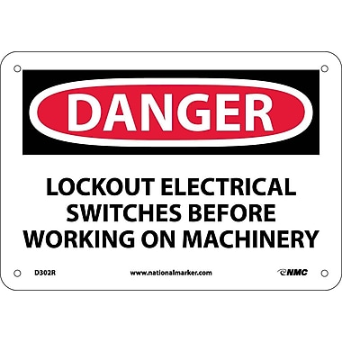 Danger, Lockout Electrical Switches Before Working, 7