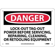 Danger, Lockout/Tagout Power Before Servicing, Repairing, Cleaning Or Retooling Equipment