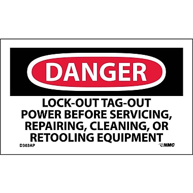 Labels Danger, Lockout Tagout Power Before Servicing.., 3