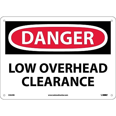 Danger, Low Overhead Clearance, 10