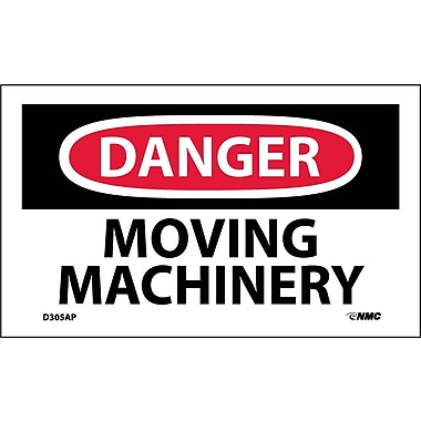 Labels Danger, Moving Machinery, 3