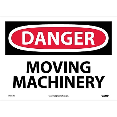 Danger, Moving Machinery, 10X14, Adhesive Vinyl